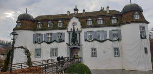 Auftritt als Sängerin an Weihnachtsfeier im Schloss Bottmingen.